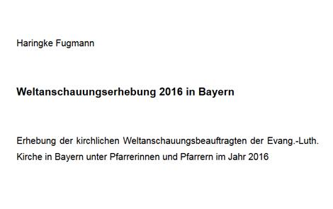 Cover des Buches Haringke Fugmann: Weltanschauungserhebung 2016 in Bayern als PDF