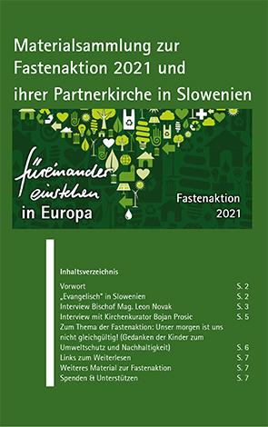 Cover des Buches Evangelisch-Lutherische Kirche in Bayern - Ökumenereferat: Materialsammlung zur Fastenaktion 2021 und ihrer Partnerkirche in Slowenien