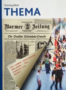 Cover des Buches Sonntagsblatt THEMA: Die Barmer Theologische Erklärung - Was bedeutet sie heute?