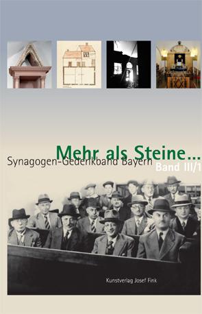 Cover des Buches Meier Schwarz: Mehr als Steine…, Synagogen-Gedenkband Bayern Band III