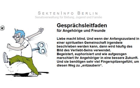 Cover des Buches Sekteninfo Berlin: Gesprächsleitfaden für Angehörige (als PDF)